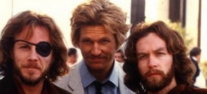 John Heard, Jeff Bridges e Dan, nos sets de Cutter's Way, primeiro trabalho profissional do diretor