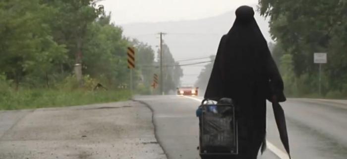 Mulher terminou sua jornada em Winchester, Virginia.