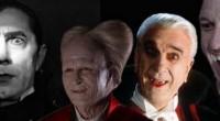 Uma grande quantidade de atores diferentes tiveram a oportunidade de interpretar o papel do terrível vilão sedento de sangue Drácula!