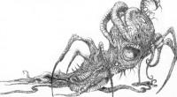 Livro reúne 60 desenhos em preto e branco, acompanhados de marcantes citações bilíngues de Lovecraft, que recriam as criaturas de obras do autor