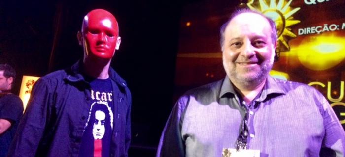 Cristian Verardi e o ator Paulo Casa Nova no Festival de Gramado