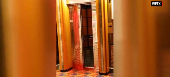 Elevador tem chuva de sangue após morte de funcionário em cruzeiro