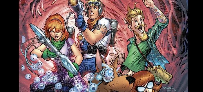 Scooby Doo Futurista e Salsicha Hipster em Scooby Apocalipse