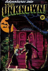 Capa de Adventures Into The Unknown #01.