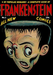 Capa de Frankenstein #01, inaugurando a fase cômica do personagem.