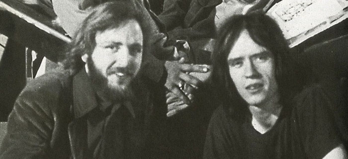 Dan O'Bannon e John Carpenter no set de Dark Star.