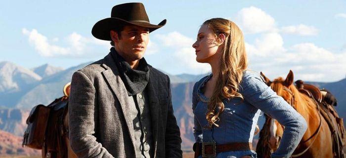 James Marsden e Evan Rachel Wood são dois dos robôs de Westworld