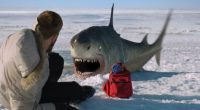 Outra bagaceira com tubarões, dessa vez quebrando as geleiras e atacando no Ártico