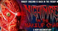 Documentário de Mike Kerz mostra o maquiador Robert Kurtzman aplicando a máscara no ator enquanto este compartilha histórias da franquia
