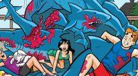A turma de Riverdale enfrenta uma chuva de tubarões com muito bom humor e absurdos