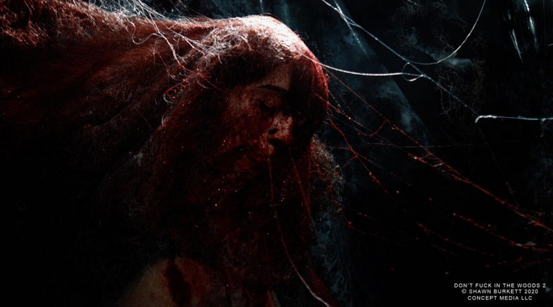 Monstro ataca acampamento em Don´t Fuck in the Woods 2